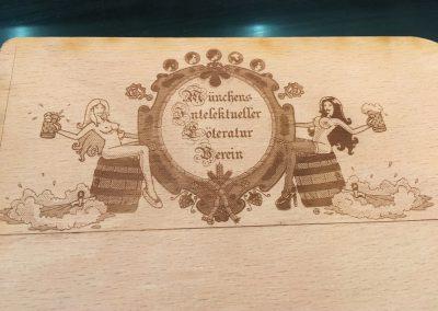 Holzgravur Vektorgrafik auf Holz