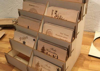 Holzpostkarten Verkaufsdisplay