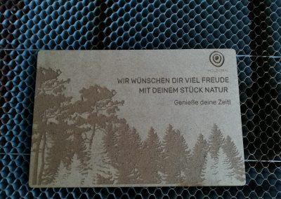 Holzpostkarte Muster Holzkern