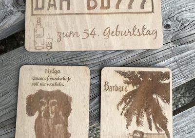 Holzpostkarte Glückwünsche Wunschtext