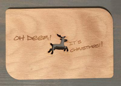 """Holzpostkarte """"Oh Deer"""""""