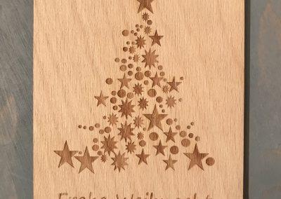 """Holzpostkarte """"Baum aus Sternen"""""""