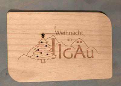 """Holzpostkarte """"Weihnacht im Allgäu"""""""