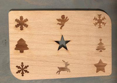 """Holzpostkarte """"Weihnachtsstern"""""""