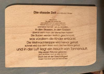 """Holzpostkarte """"Staade Zeit"""""""