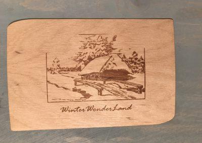 """Holzpostkarte """"WinterWonderLand"""""""